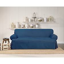 Bed Bath And Beyond Couch Slipcovers by Surefit Authentic Denim T Cushion Sofa Slipcover Bed Bath U0026 Beyond