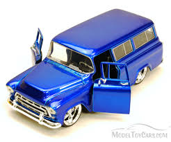 100 Chevy Toy Trucks 1957 Suburban SUV Blue Jada S Bigtime Kustoms 50267 1