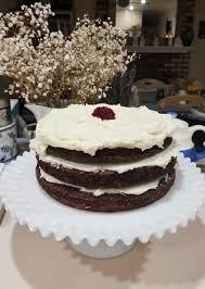 made my own birthday cake this year wine velvet cake