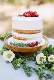 This Simple Rustic One Tier Cake