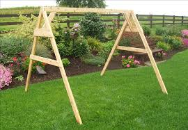 Cedar A Frame Stand for Swing or Swing Bed with Hangers The