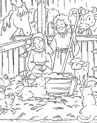 Printable Nativity Coloring Pages 8 Free Scene