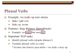 Light Verb by Collocations David Guy Brizan Speech And Language Processing
