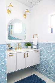 blaue fliesen badezimmer verzierungsideen alle dekoration