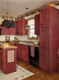 Full Size Of Kitchencute Rustic Red Painted Kitchen Cabinets Winsome A Touch To The