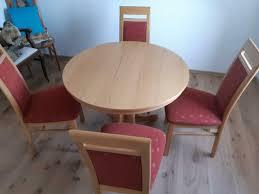 esszimmer tisch und vier stühle buche hell