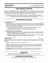 Resume Template Restaurant Manager Cover Letter Sample Objectives Inspirational Cv