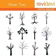 Clipart Winter Trees by revidevi on Etsy