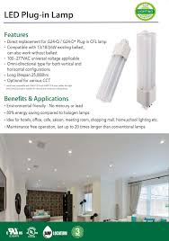 Satco Led Corn Lamps by Series Vpl Led 4 Pin Led Lamp Direct Replacement For G24 Q G24 D