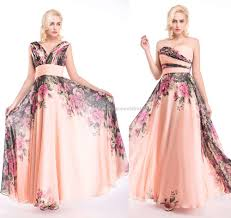 2016 new arrival long short flora bridesmaid prom dresses for