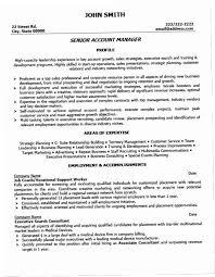 Account Manager Resume Sample B61G Senior Template