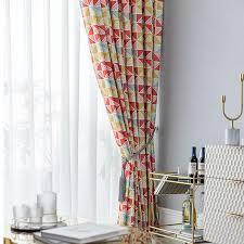 vorhang modern geometisches design aus polyester für