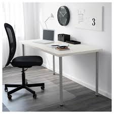 Tempered Glass Computer Desk by Adils Leg Black Ikea
