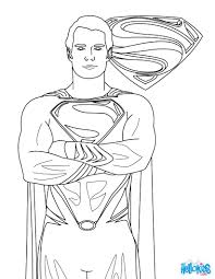 SUPERMAN Free Coloring Page