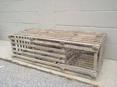 lobster trap authentic wooden full size half round vintage