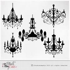 Chandelier Clipart Baroque Ornamental Decorative Clip Art EPS PNG And PSD Files Instant Download Highly Detailed