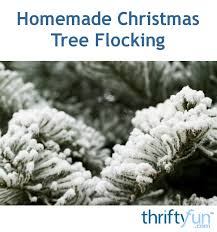 Homemade Christmas Tree Flocking