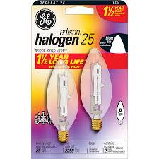 shop ge 2 pack 25 watt b candelabra base bright white decorative