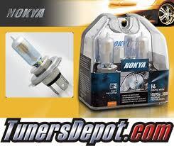 nokya皰 cosmic white headlight bulbs 03 08 pontiac vibe h4 hb2