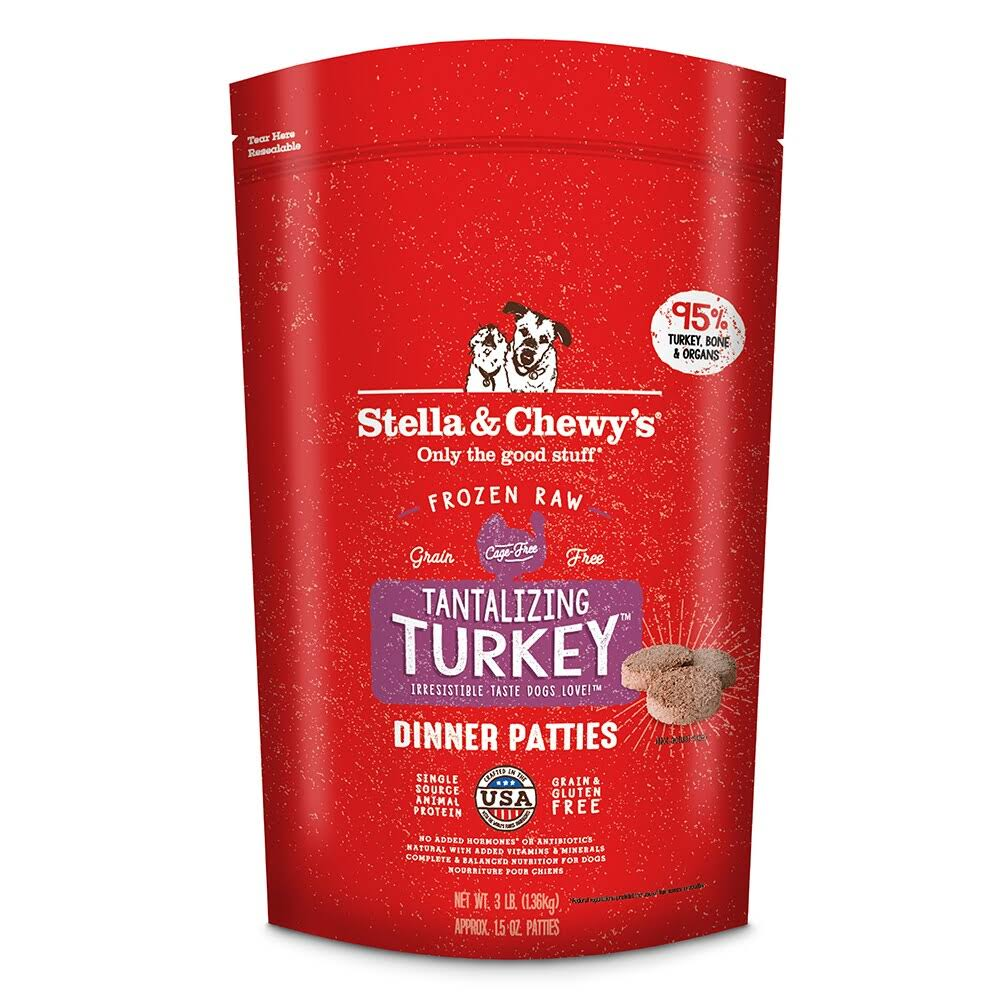 Stella & Chewy's Tantalizing Turkey Dinner Patties 3lb Raw Frozen Dog Food
