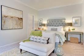 blue tufted headboard contemporary bedroom capella kincheloe