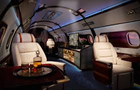 Luxury Skyacht Incredible Private Jet With A Queen Bed Interior