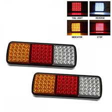 2PCS 12V 75 Led Truck Tail Lights UTE Trailer Boat Brake Reverse ... 2x Led Rear Tail Lights Truck Trailer Camper Caravan Bus Lorry Van 0708 Dodge Ram Pickup Euro Red Clear 111 Round And W Builtin Reflector 4 Inch Led Whosale 2018 8 Car Light Warning Rear Lamps Waterproof Amazonca Trucklite 44022r Super 44 Stopturntail Kit 42 2 Pcs With License Plate Lamp Durable Lights Ucktrailer Circular Stoptail Lamp 1030v 1 Pair 12v Turn Signal 20fordf150taillight The Fast Lane