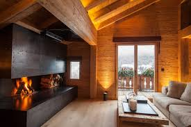 wohnbereich mit cheminee homify rustikale wohnzimmer holz