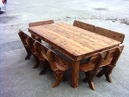 Excellent Rustic Wood Outdoor Furniture Image Design Cypress Care Wooden Patio Table With Built In Cooler