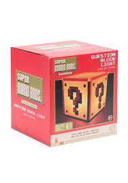 Mario Question Mark Block Lamp by Nintendo Question Block Light