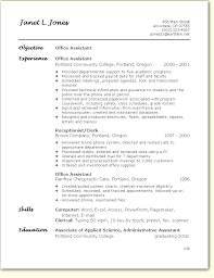 Front Office Job Resume by Resume Office Free Excel Templates