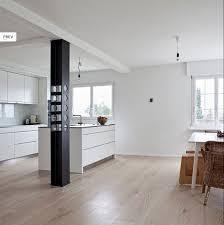 küche heller parkettboden moderne küche wohnen