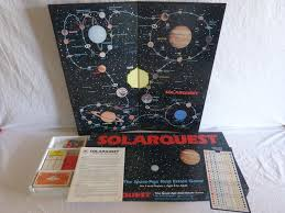 Vintage 1986 Solarquest Space Age Real Estate Board Game