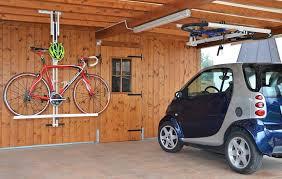 flat bike lift raises the roof on bike storage