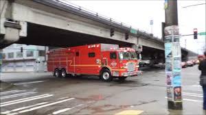 100 Hazmat Truck Seattle Fire Truck Responding YouTube