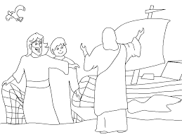 Winsome Jesus Disciples Coloring Page Calls Archives