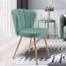 merax polsterstuhl aura 1 pc esszimmerstühle samt küchenstuhl wohnzimmerstuhl mit shell stil rückenlehne vintage sessel polsterstuhl komfort