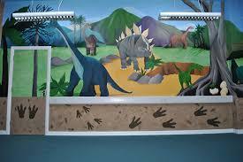 Dinosaur Party Room Mural