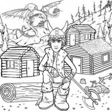 Two Headed Dragon Wooden Log Viking Cabins Hiccup How To Train Your Drago Truck Coloring Page