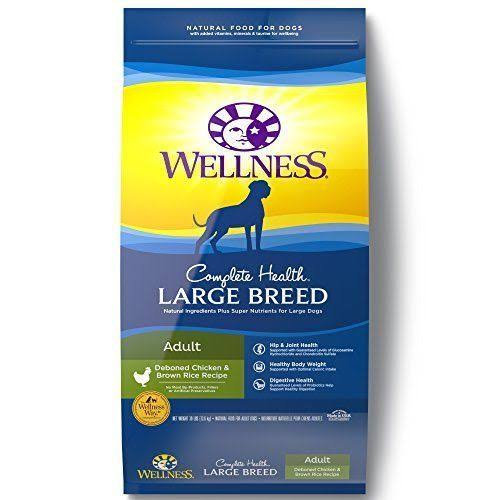 Wellness Complete Health Large Breed Dog Food - Chicken and Rice, Dry, 30lb