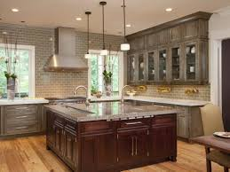 Dark Oak Kitchen Cabinets The Most Distressed Grey Applying Granite With Pictures Wood White Units Solid