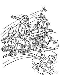 The Grinch In Christmas Sleigh Coloring Pages
