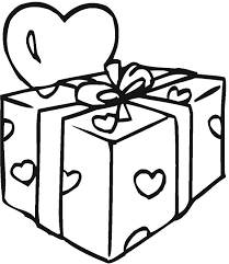 Presents Coloring Page Birthday Present Pages