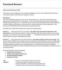 sle of a functional resume 20 chrono functional resume sle