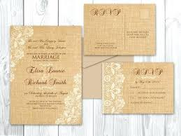 Wedding Shower Invitations Burlap And Lace Uk Cards Pockets Diy