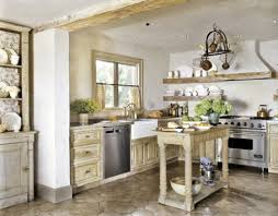Country Chic Dining Room Ideas by Blue Marble Counter Top Chandelier Above Dining Table Country