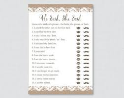 Burlap And Lace Bridal Shower He Said She Game