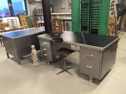 vintage bureau itsthat stripped steel desk sold