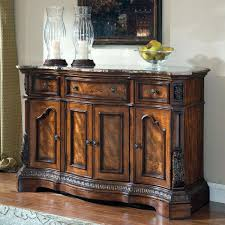 Cherry Sideboards Dark Buffet Natural Sideboard Sturdy Wood Table With Grey Marble Furniture
