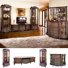 louis exklusives wohnzimmer komplett set barock rokoko stil massivholzmöbel tabakfarbe